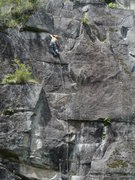 Rock Climbing Photo: Approaching the last bolt on Tunnel Vision