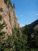 Rock Climbing Photo: Jesse on Mesca-Line.