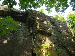 Rock Climbing Photo: Dave on Slip Knot