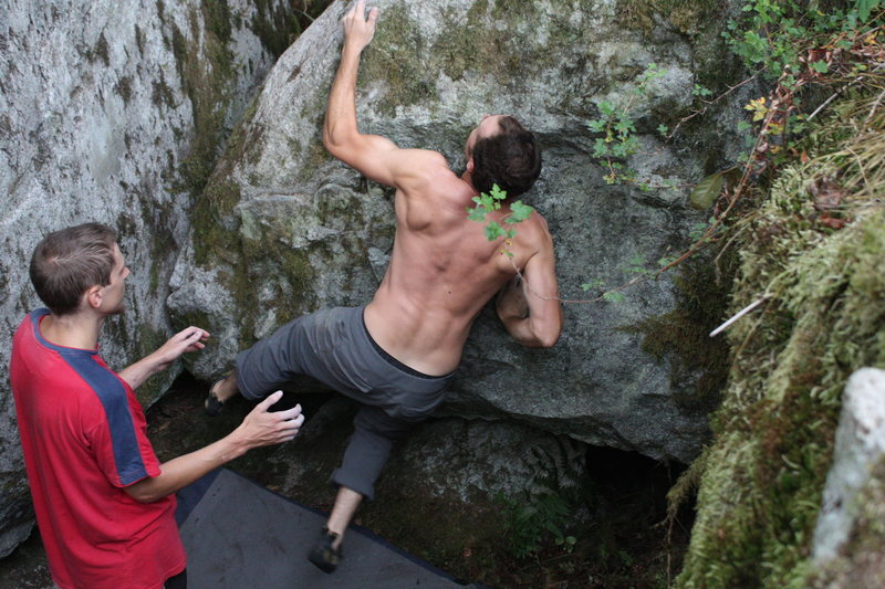 Rock Climbing Photo: slaping the crux move