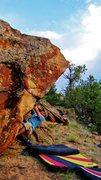 Rock Climbing Photo: Brad starting out Hit Me Polka.