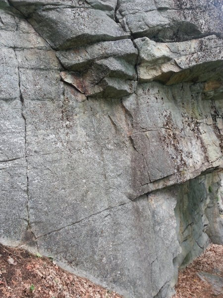 Rock Climbing Photo: Whet Stone takes the crack on the right through th...