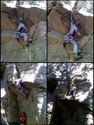 Rock Climbing Photo: Roof sequence. The missing bit is the high step ov...