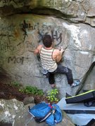 "Rock Climbing Photo: Aaron James Parlier on the start to ""Trinity ..."