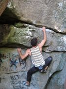 "Rock Climbing Photo: Aaron James Parlier on the FA of ""Trinity For..."