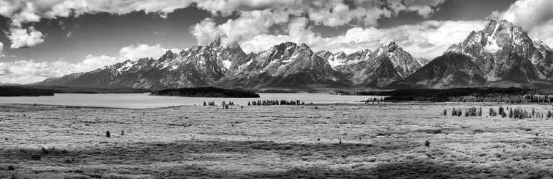 Panorama from Jackson Lake