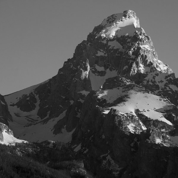 Rock Climbing Photo: The Grand with Lower Saddle, and Moraine in view