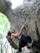 "Rock Climbing Photo: Aaron Parlier on the start to ""Plastron Gasto..."