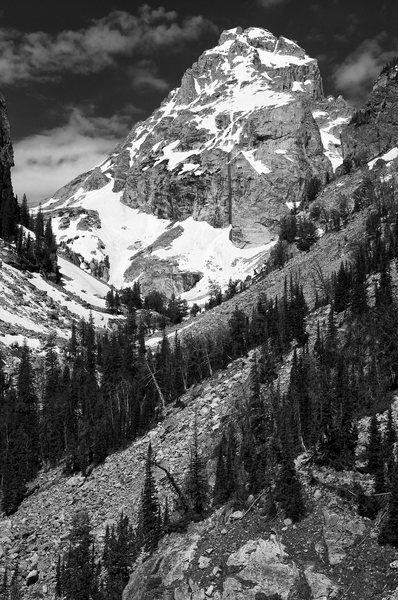 Rock Climbing Photo: The Middle from Garnet Canyon Trail