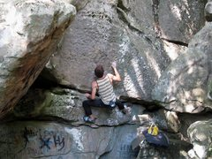 "Rock Climbing Photo: Parlier on the FA of ""Trinity For Life"" ..."