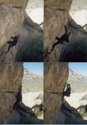Rock Climbing Photo: Solo'ing Big Moe in the '90s.  Psyching up for the...