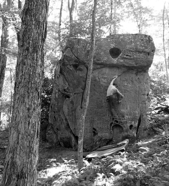 Rock Climbing Photo: Aaron James Parlier on the FA of Holy Moly