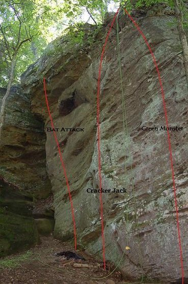 Rock Climbing Photo: Sport routes at the baseball field