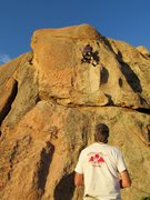 Rock Climbing Photo: As sunset approaches ....