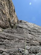 Rock Climbing Photo: Leading the final pitch.