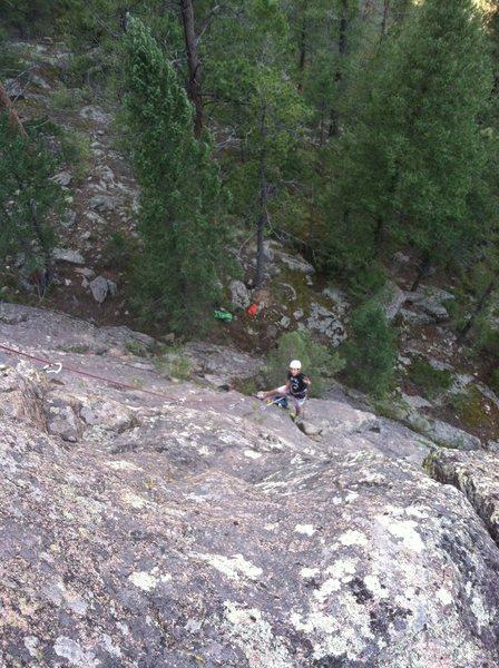 Rock Climbing Photo: Improvising haha.