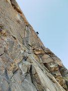 Rock Climbing Photo: Eric Peterson leads