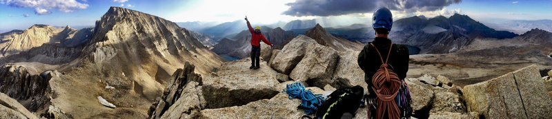 Rock Climbing Photo: This summit will make most mortals quite giddy.