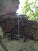 Rock Climbing Photo: In your head set up on the green rope.