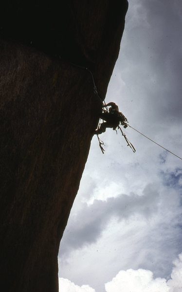 I took this pic of Steve leading the second pitch.