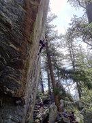 Rock Climbing Photo: Laura peering into the Crystal Ball.