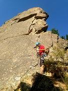 Rock Climbing Photo: Pitch 2-Sweet!!
