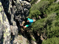 Rock Climbing Photo: Top of pitch 2 on Pineapple