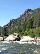 Rock Climbing Photo: Gallatin river