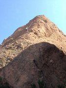 Rock Climbing Photo: finishing tethys