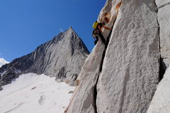 Rock Climbing Photo: Hans on first pitch of PF Direct