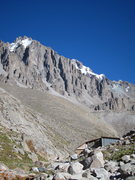 Rock Climbing Photo: Ratsek cabin is in the foreground and Schwaba goes...