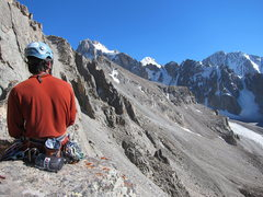 Rock Climbing Photo: View from the top of the 5th pitch.
