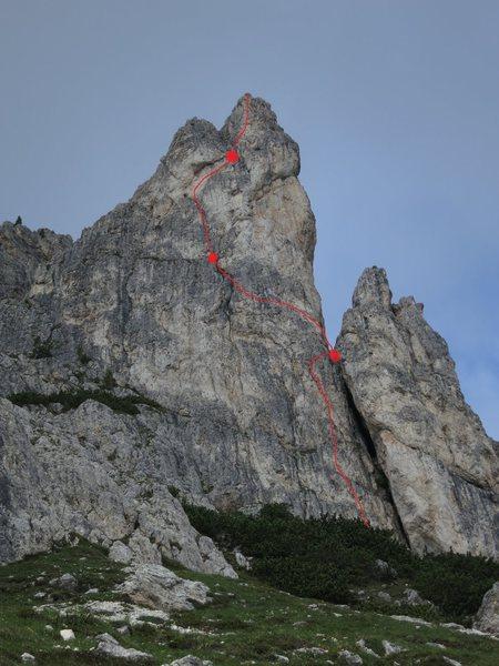 Rock Climbing Photo: Route Summary