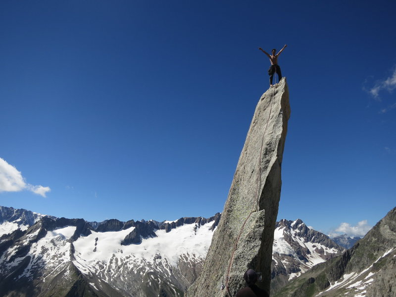 Rock Climbing Photo: Summitblock of Salbitschijen (2981m)