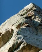 Rock Climbing Photo: The anchors at Man Overboard (also showing gear pl...