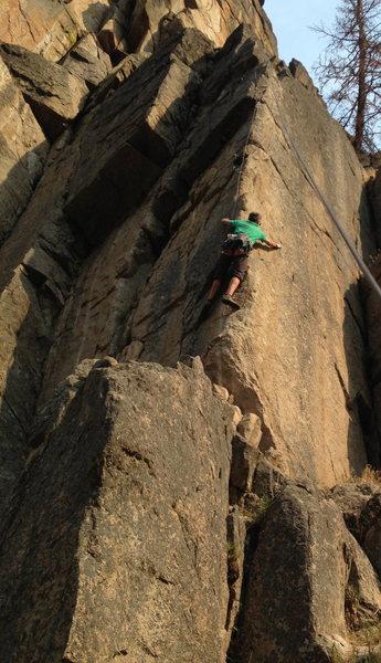 Sweet arete climbing!