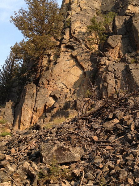Rock Climbing Photo: The move