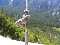 Rock Climbing Photo: Manky rope