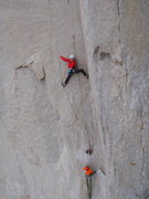 Rock Climbing Photo: Eric Bissell & Ben climbers on Airstream 5.13, The...