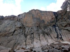 Rock Climbing Photo: The Diamond from the talus field below the North C...