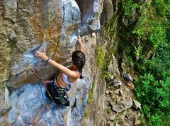 Rock Climbing Photo: Using the triangle