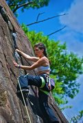 Rock Climbing Photo: Near the crux