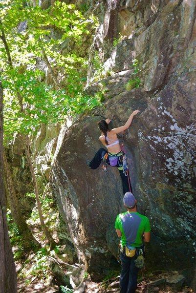 Rock Climbing Photo: The start of the climb