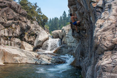 Rock Climbing Photo: Deep water soloing on a great boulder problem at t...