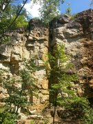 Rock Climbing Photo: Shot of George's Point with most of the routes vis...