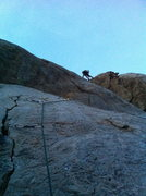 Rock Climbing Photo: Night Stalker FA. 3-28-13 Bolted at 6pm Flashed it...