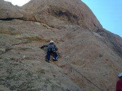 Rock Climbing Photo: 1st lead climb