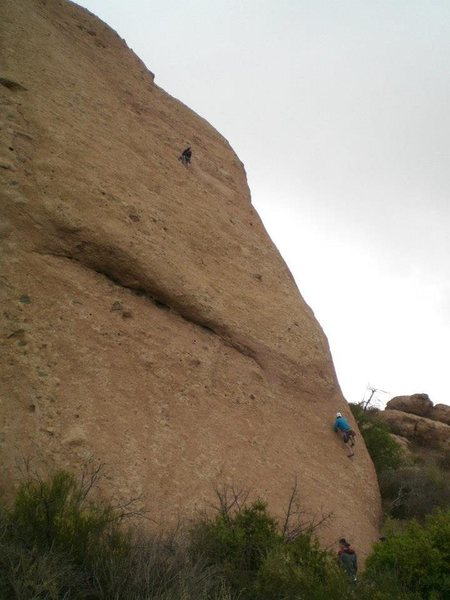 Rock Climbing Photo: Jack Beckley and Tony Yeary on 1st P of Goldline