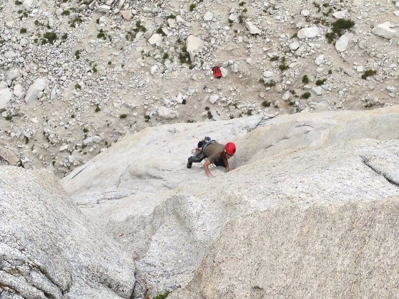Rock Climbing Photo: Unknown climber climbing the start of Airstream on...