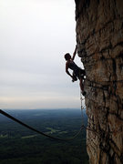 nothing new here... just another classic shot from one of the most photogenic pitches in the Gunks (Bonnie's Roof, pitch 2)